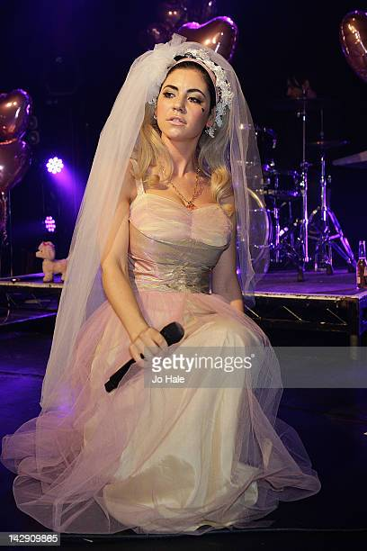 Marina Lambrini Diamandis of Marina The Diamonds performs on stage at Heaven on April 14 2012 in London United Kingdom