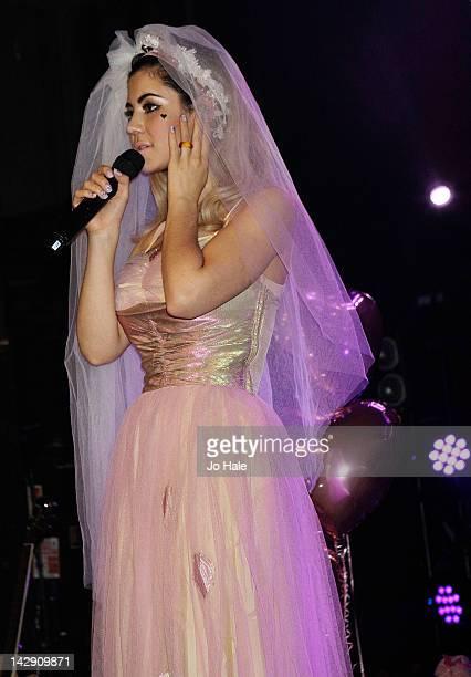 Marina Lambrini Diamandis of Marina The Diamonds performs on stage at Heaven on April 14 2012 in London United Kingdom