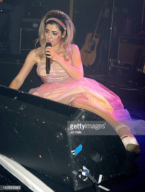 Marina Lambrini of Marina The Diamonds performs on stage at Heaven on April 14 2012 in London United Kingdom