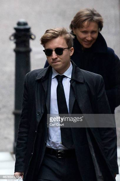 Marina Litvinenko and her son Anatoly Litvinenko arrive at The High Court to give evidence at the inquest into the death of her husband Alexander...