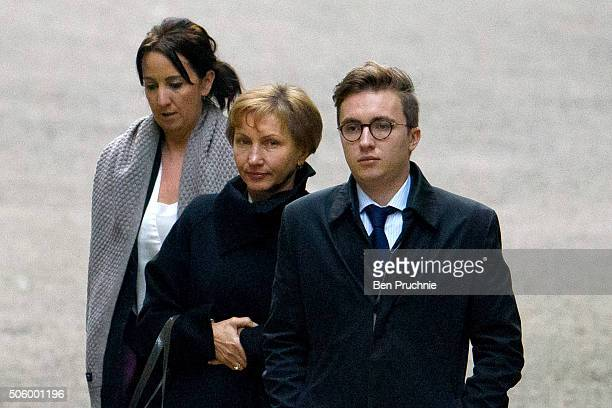 Marina Litvinenko and son Anatoly Litvinenko arrive at The High Court to receive the results of the inquiry into the death of her husband Alexander...