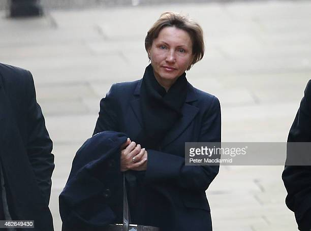 Marina Litvinenko arrives at The High Court to give evidence at the inquest into the death of her husband Alexander Litvinenko on February 2 2015 in...