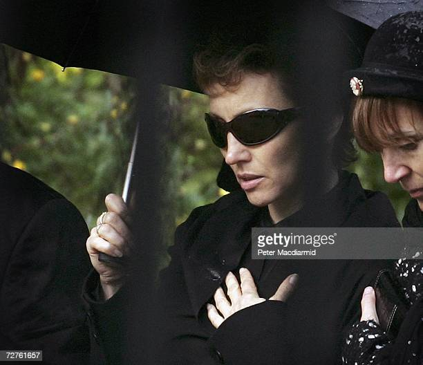 Marina Litvinenko attends the funeral of her husband former Russian spy Alexander Litvinenko on December 7 2006 at Highgate cemetery in London...