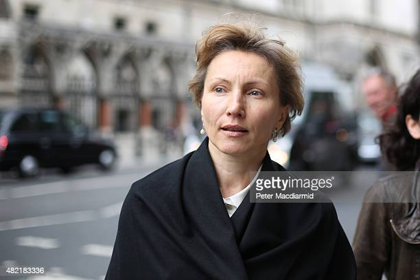 Marina Litvinenko leaves The High Court on July 28, 2015 in London, England. The inquiry into the death of her husband continues after key suspect...
