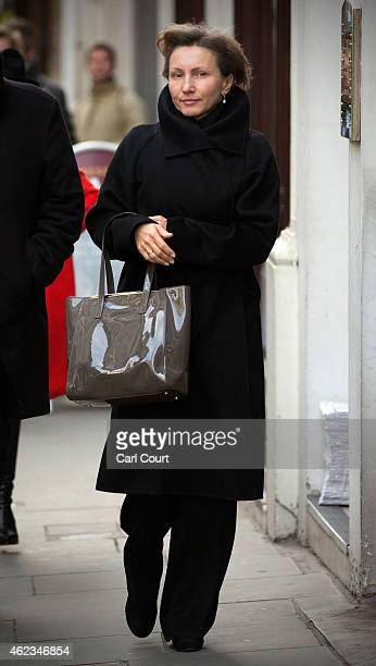 Marina Litvinenko, the widow of former KGB agent Alexander Litvinenko leaves the High Court after attending the first day of the inquiry into her...