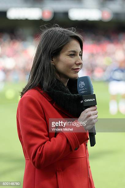 Marina Lorenzo during the French League 1 match between EA Guingamp and Paris SaintGermain on April 9 2016 in Guingamp France