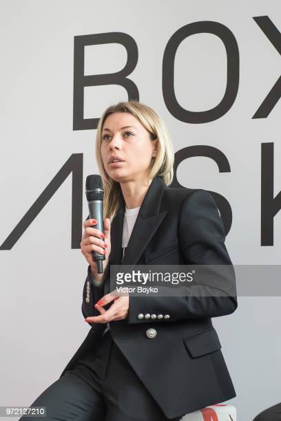 Marina Lylchuk Director of Gorky Park presents the opening of Box MSK at Gorky Park on June 12 2018 in Moscow Russia Brazil football icon Ronaldo and...