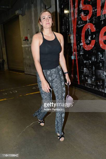 Marina Mabrey of the Los Angeles Sparks arrives at the arena before the game against Minnesota Lynx on August 20 2019 at the Staples Center in Los...