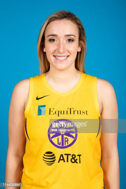 Marina Mabrey of the Los Angeles Sparks poses for a head shot at the WNBA Media Day on May 14 2019 at Southwest College in Los Angeles California...