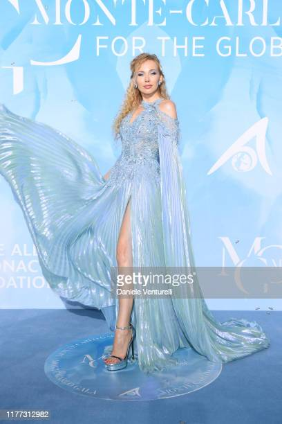 Marina Majoie attends the Gala for the Global Ocean hosted by H.S.H. Prince Albert II of Monaco at Opera of Monte-Carlo on September 26, 2019 in...