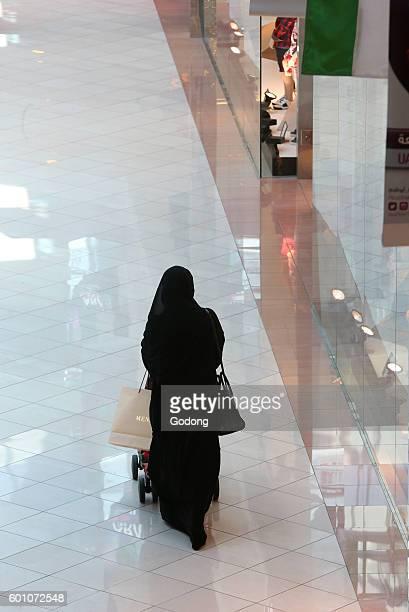 Marina Mall Abu Dhabi United Arab Emirates Muslim woman United Arab Emirates
