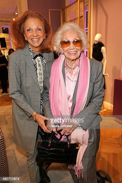 Marina Meggle and her mother Gertrud Ponater during the Talbot Runhof flagship boutique opening at Preysing Palais on October 14 2015 in Munich...
