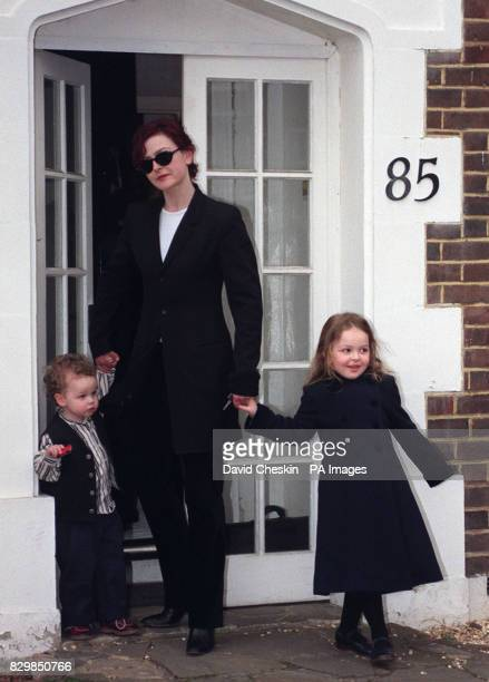 Marina Mowatt daughter of Princess Alexandra and Sir Angus Ogilvy leaves her home today with children Christian and Zenouska after the news that she...