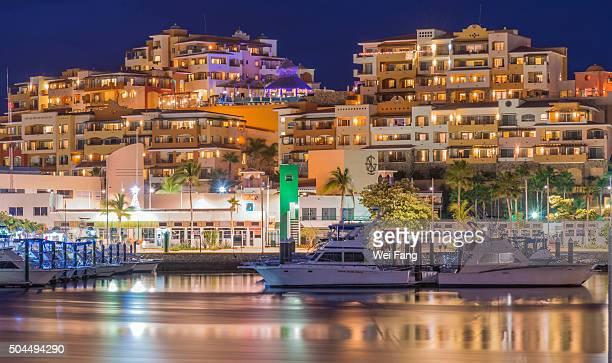 marina night - cabo san lucas stock pictures, royalty-free photos & images