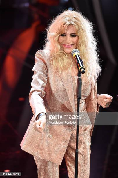 Marina Occhiena at the first evening of the 70th Sanremo Music Festival Sanremo February 5th 2020