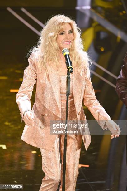 Marina Occhiena of I Ricchi e Poveri attends the 70° Festival di Sanremo at Teatro Ariston on February 05 2020 in Sanremo Italy