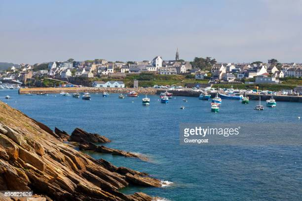 marina of le conquet in brittany - gwengoat stock pictures, royalty-free photos & images