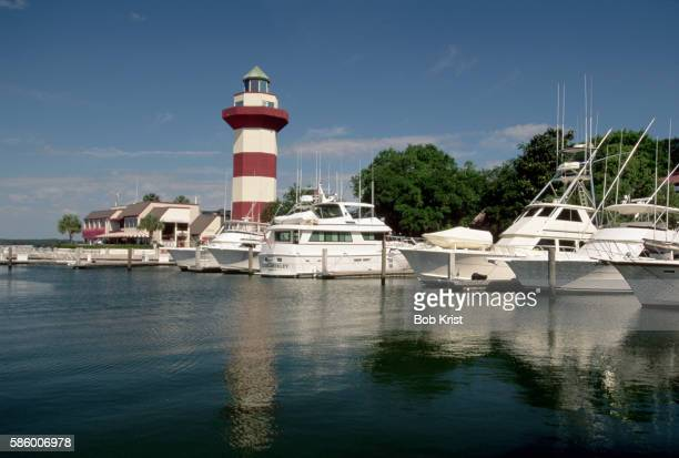 marina on hilton head island - hilton head stock pictures, royalty-free photos & images
