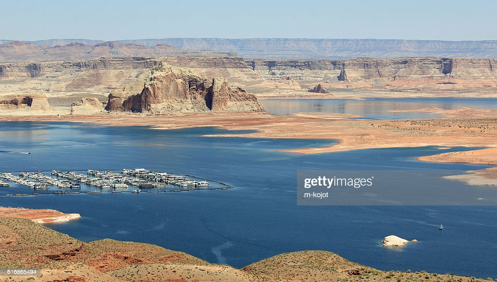 Marina on Lake Powell : Stock Photo