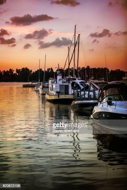 Marina on Lake St. Clair in Windsor, Ontario, Canada