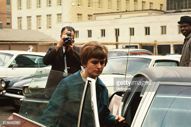 Marina Oswald Porter widow of President Kennedy's alleged assassin outside the Federal Building January 31st after giving three depositions to a...