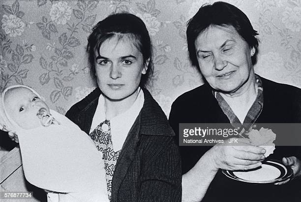 Marina Oswald with Daughter and Aunt