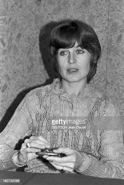 Marina Oswaldporter In Paris To Attend The Tv Programme 'Les Dossiers De L'ecran' Janvier 1979 Paris Portrait de Marina OSWALDPORTER la veuve de...