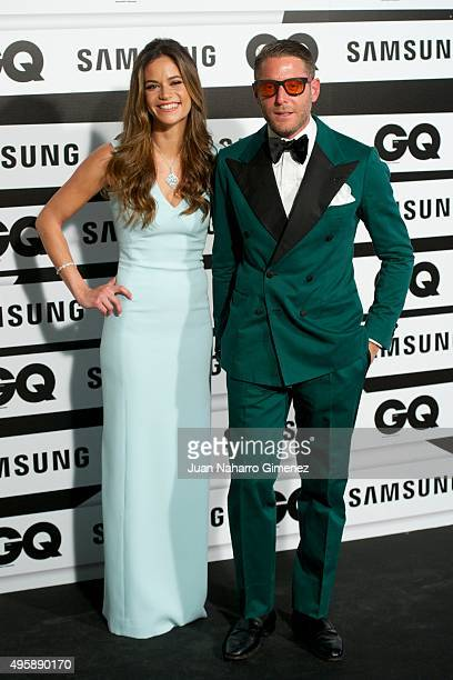 Marina Penate and Lapo Elkann attend GQ Men of the Year Awards at Palace Hotel on November 5 2015 in Madrid Spain