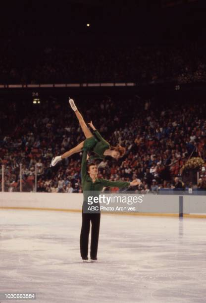 Marina Pestova Stanislav Leonovich competing in the Pairs figure skating event at the 1980 Winter Olympics / XIII Olympic Winter Games Olympic Center