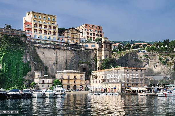 marina piccola, sorrento - sorrento stock pictures, royalty-free photos & images