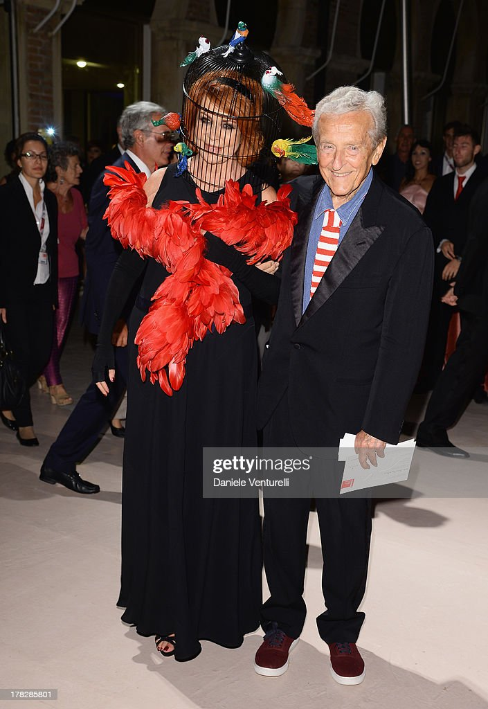 Marina Ripa di Meana and Carlo Ripa di Meana attend the Opening Ceremony during The 70th Venice International Film Festival on August 28, 2013 in Venice, Italy.