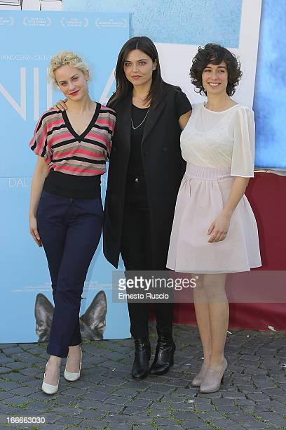 Marina Rocco Elisa Fuksas and Diane Fleri attend the Nina photocall at Cinema Barberini on April 15 2013 in Rome Italy