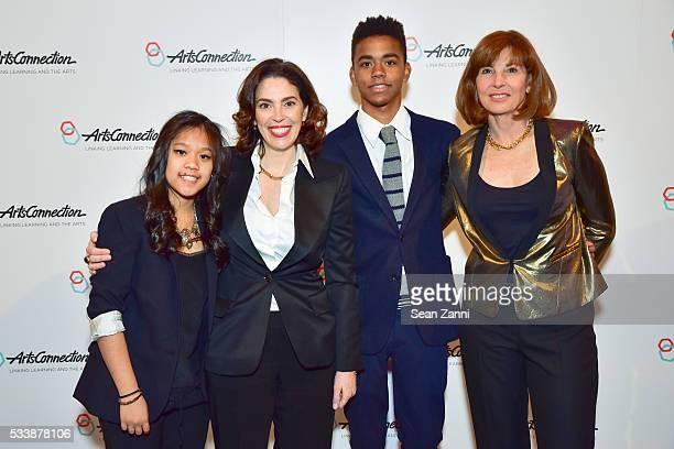 Marina RosenCappellazzo Amy Cappellazzo Benjamin RosenCappellazzo and Joanne Rosen attend ArtsConnection 2016 Benefit Celebration at 583 Park Avenue...