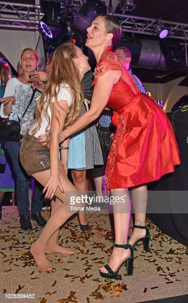 Marina Rudolph and Daniela Dany Michalski during the Angermaier TrachtenNacht at Hofbraeuhaus on August 30 2018 in Berlin Germany