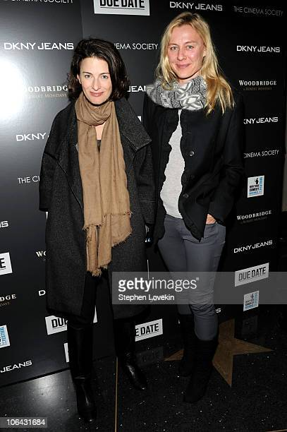 Marina Rust Connor and Renee Rockefeller attend a screening of Due Date hosted by The Cinema Society DKNY Jeans at AMC Lincoln Square Theater on...