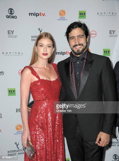 Marina Ruy Barbosa and Renato Goes attend 45th International Emmy Awards at New York Hilton on November 20 2017 in New York City