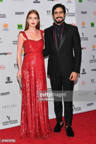 Marina Ruy Barbosa and Renato Goes attends the 45th International Emmy Awards at New York Hilton on November 20 2017 in New York City