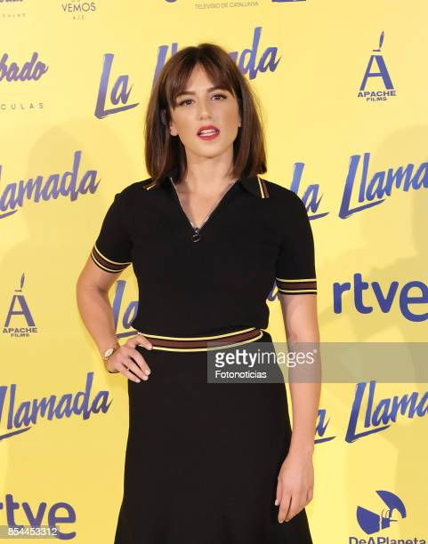 Marina Salas attends the 'La Llamada' premiere yellow carpet at the Capitol cinema on September 26 2017 in Madrid Spain