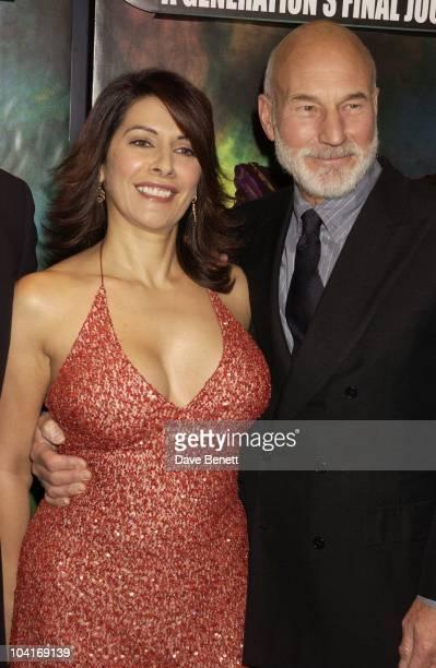 Marina Sirtis And Patrick Stewart Star Trek Nemesis Movie Premiere At The Empire Leicester Square London