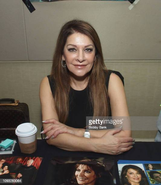 Marina Sirtis attends The Hollywood Autograph Show at The Westin Los Angeles Airport on February 2, 2019 in Los Angeles, California.