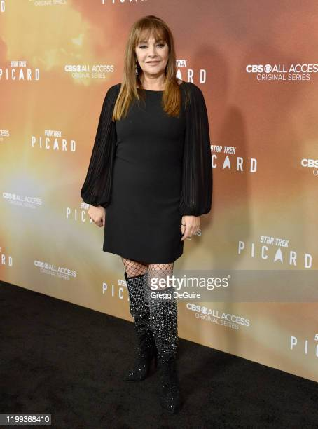 "Marina Sirtis attends the premiere of CBS All Access' ""Star Trek: Picard"" at ArcLight Cinerama Dome on January 13, 2020 in Hollywood, California."