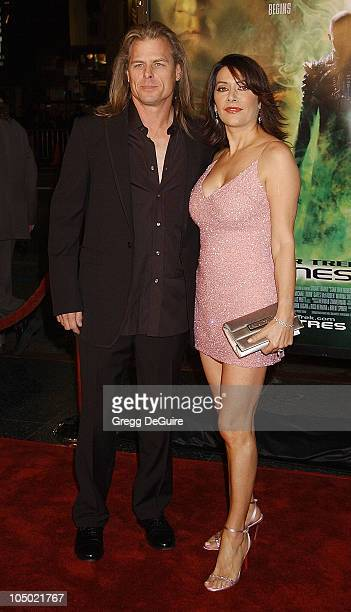 "Marina Sirtis & husband Michael Lamper during ""Star Trek: Nemesis"" World Premiere at Grauman's Chinese Theatre in Hollywood, California, United..."