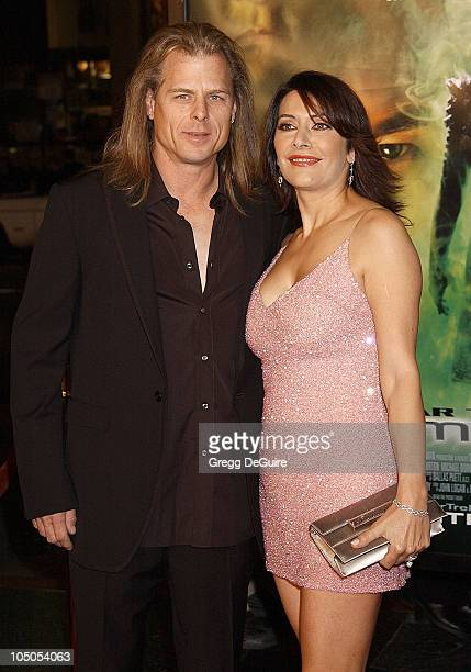 Marina Sirtis husband Michael Lamper during 'Star Trek Nemesis' World Premiere at Grauman's Chinese Theatre in Hollywood California United States