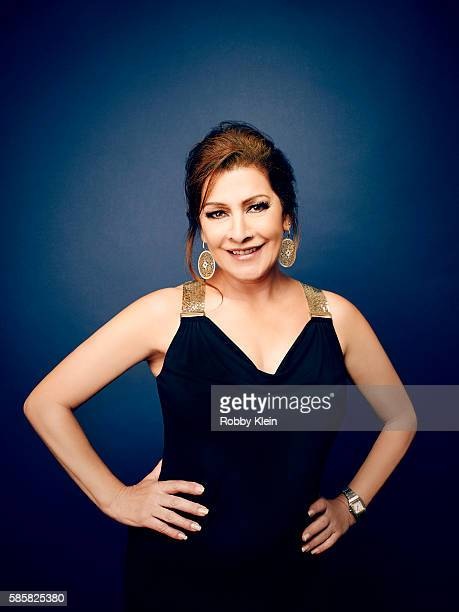 Marina Sirtis is photographed at the Hallmark Channel Summer 2016 TCA's on July 27, 2016 in Los Angeles, California.