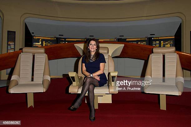 Marina Sirtis poses for photographs during the Destination Star Trek event at ExCel on October 3, 2014 in London, England.