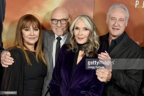 "Marina Sirtis, Sir Patrick Stewart, Gates McFadden, and Brent Spiner attend the premiere of CBS All Access' ""Star Trek: Picard"" at ArcLight Cinerama..."