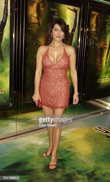 Marina Sirtis Star Trek Nemesis Movie Premiere At The Empire Leicester Square London
