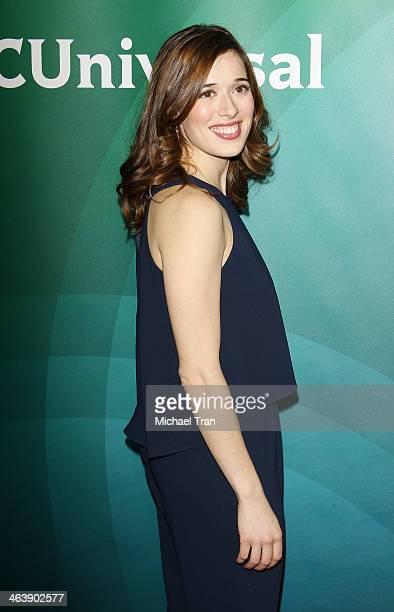 Marina Squerciati arrives at the NBC/Universal 2014 TCA Winter press tour held at The Langham Huntington Hotel and Spa on January 19 2014 in Pasadena...