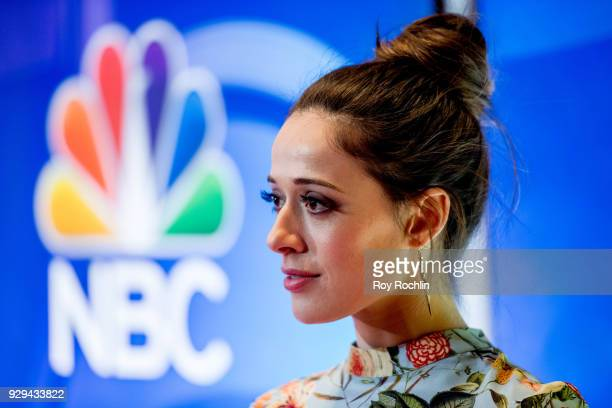 Marina Squerciati attends NBC's New York mid season press junket at Four Seasons Hotel New York on March 8 2018 in New York City