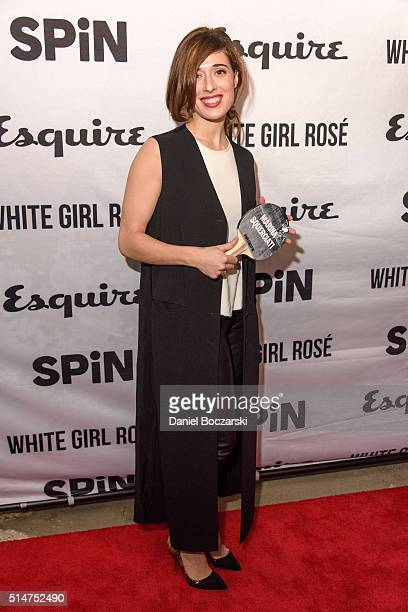 Marina Squerciati attends the grand opening party at SPiN Chicago on March 10 2016 in Chicago Illinois
